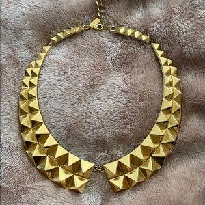 Kate Spade Gold Pyramid Bib Necklace